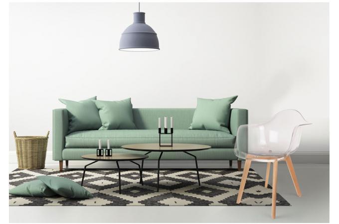 chaise scandinave avec accoudoir transparent norway - Fauteuil Scandinave Transparent