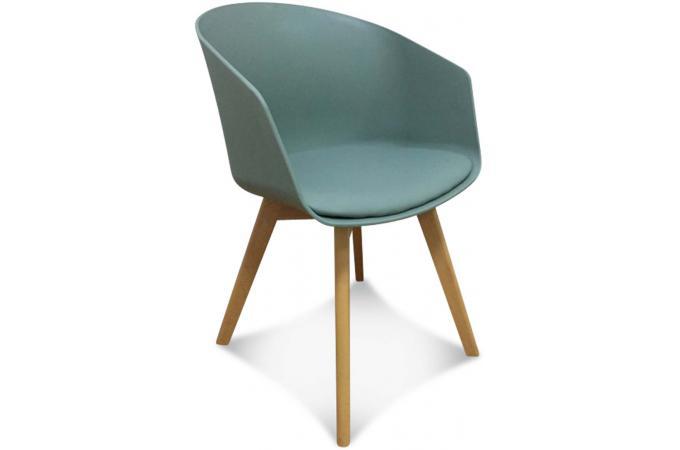 fauteuil scandinave vert fonc danishu - Fauteuil De Table Scandinave