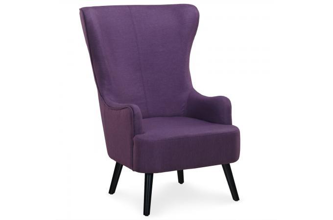 fauteuil scandinave haut dossier violet forchat design sur sofactory. Black Bedroom Furniture Sets. Home Design Ideas