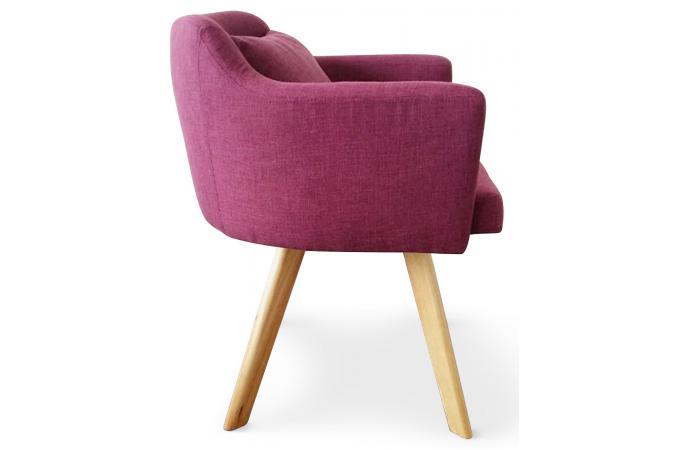 Fauteuil scandinave violet teiki design pas cher sur sofactory - Fauteuil violet design ...