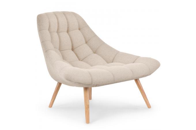 fauteuil scandinave tissu beige gusto - Fauteuil En Tissu