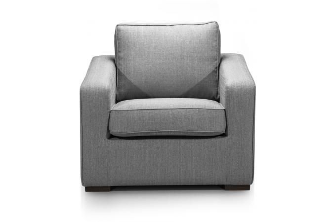 Fauteuil Tissu Gris TANA Design Sur SoFactory - Fauteuil gris design