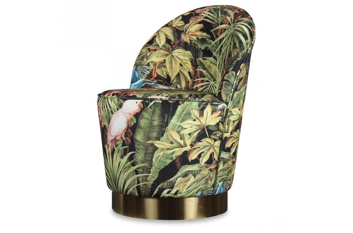 Fauteuil Velours Design Jungle EDGAR SoFactory