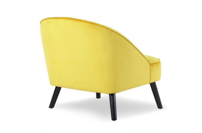 fauteuil velours jaune sigtuna design sur sofactory. Black Bedroom Furniture Sets. Home Design Ideas