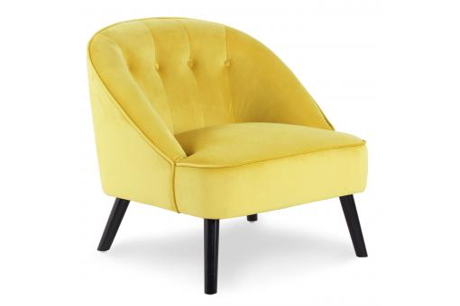Fauteuil Velours Jaune SIGTUNA SoFactory