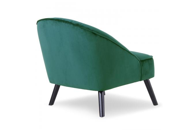fauteuil velours vert sigtuna design sur sofactory. Black Bedroom Furniture Sets. Home Design Ideas