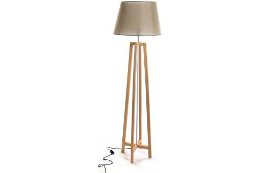 lampadaire scandinave bois et blanc parla d co design pas. Black Bedroom Furniture Sets. Home Design Ideas