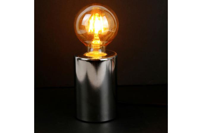 Sur Argent Lampe Poser Cylindre Déco Sliman Métallisé Design À 53jRL4A