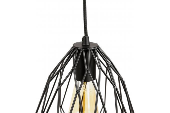 lampe abat jour filaire noir soho d co design sur sofactory. Black Bedroom Furniture Sets. Home Design Ideas
