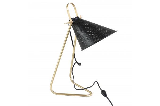Lampe de bureau métal noir or ambanja déco design sur sofactory