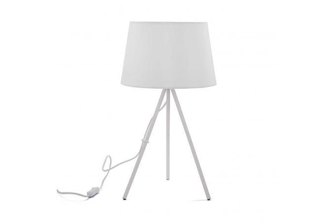 lampe sur 3 pieds blanc myjim d co design sur sofactory. Black Bedroom Furniture Sets. Home Design Ideas