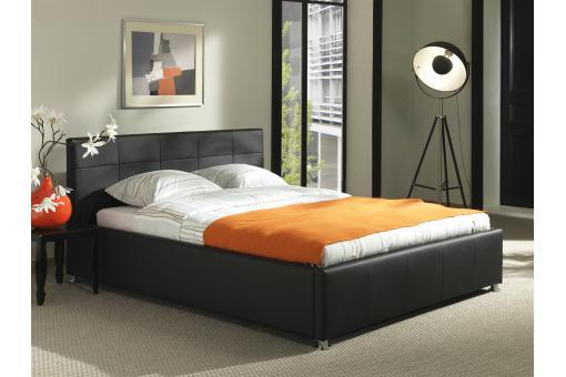 lit 2 places kira noir design pas cher sur sofactory. Black Bedroom Furniture Sets. Home Design Ideas
