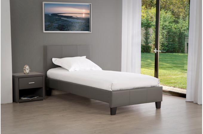 Lit 90x190 Gris Bybo Design Sur Sofactory