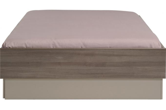 Lit Adulte 140X190cm Coloris Noyer PATTY
