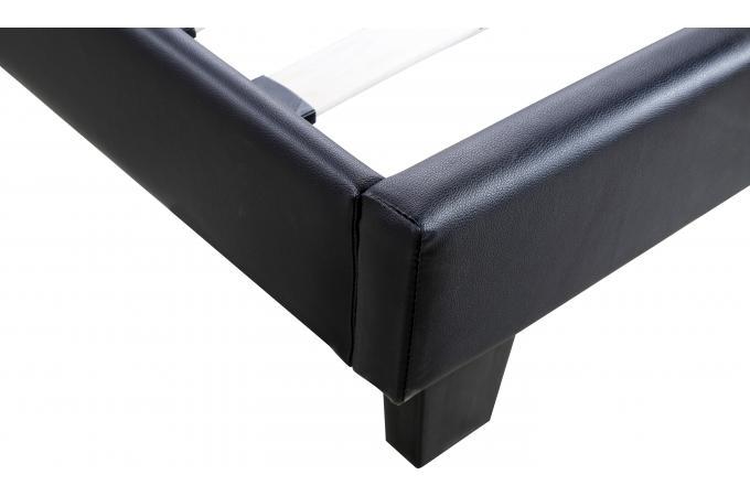 lit capitonn avec sommier noir 160x200 elyne design sur sofactory. Black Bedroom Furniture Sets. Home Design Ideas