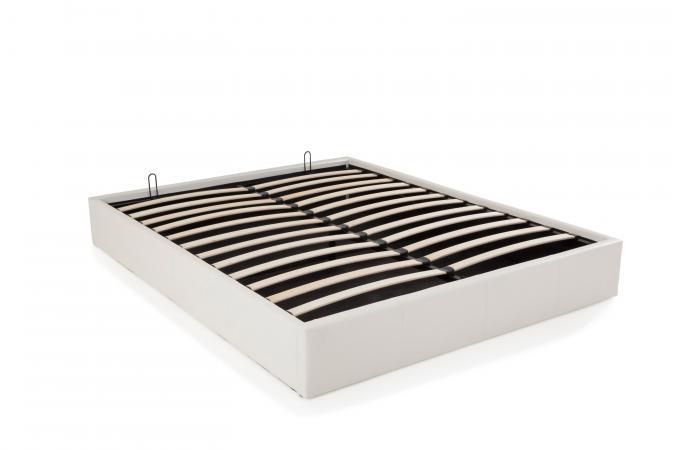 lit coffre 140x190 blanc mapala design sur sofactory. Black Bedroom Furniture Sets. Home Design Ideas