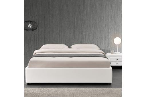 lit coffre 140x190 blanc freud design sur sofactory. Black Bedroom Furniture Sets. Home Design Ideas