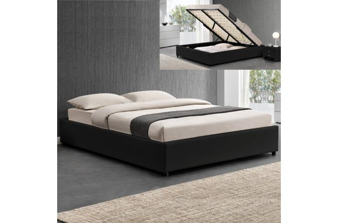 lit coffre 140x190 noir freud design sur sofactory. Black Bedroom Furniture Sets. Home Design Ideas