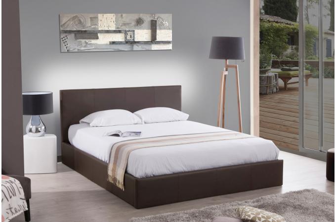 lit coffre 140x190 taupe mona design sur sofactory. Black Bedroom Furniture Sets. Home Design Ideas