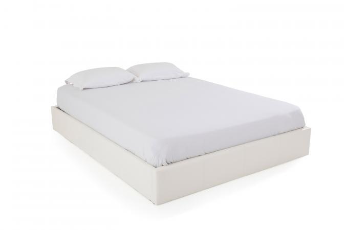 Lit Coffre 160x200 Blanc Mapala Design Sur Sofactory