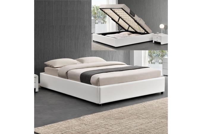 lit coffre 160x200 blanc freud design sur sofactory. Black Bedroom Furniture Sets. Home Design Ideas