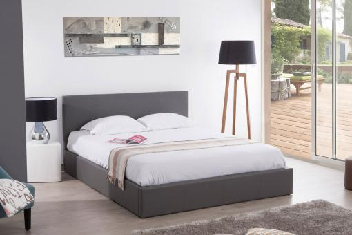 Lit Coffre 180x200 Gris MONA So112416-0000