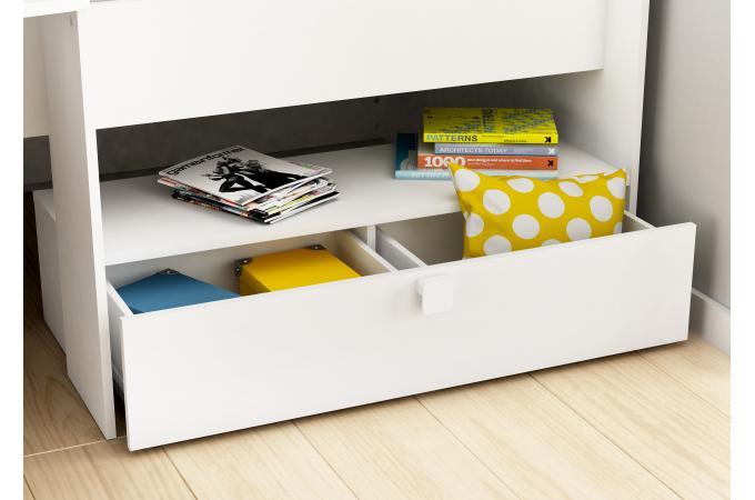 lit combin bureau 90x200 tapara design sur sofactory. Black Bedroom Furniture Sets. Home Design Ideas
