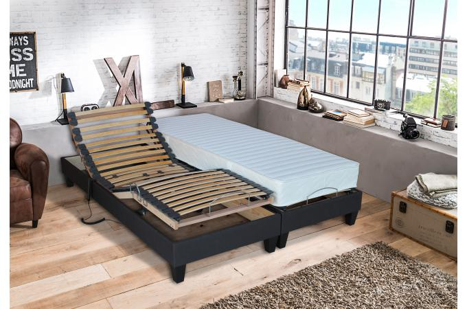 lit de relaxation matelas mousse m moire de forme et sommier electrique et 8 pieds cm. Black Bedroom Furniture Sets. Home Design Ideas