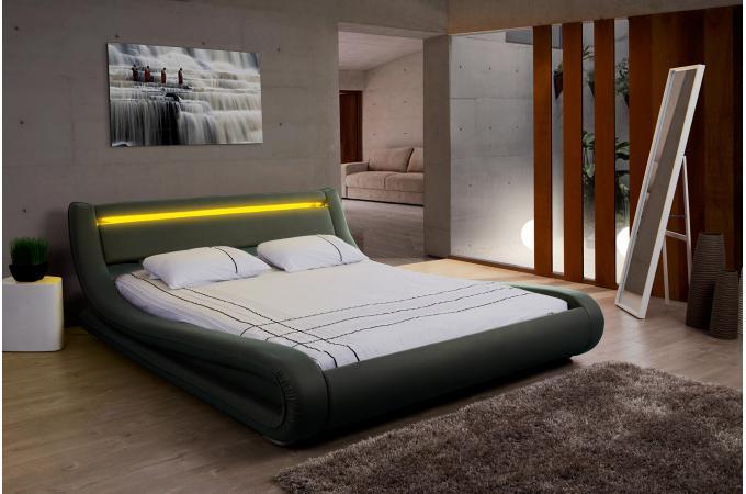 Lit Design LED X Noir FEREOL Design Sur SoFactory - Lit design 160 x 200