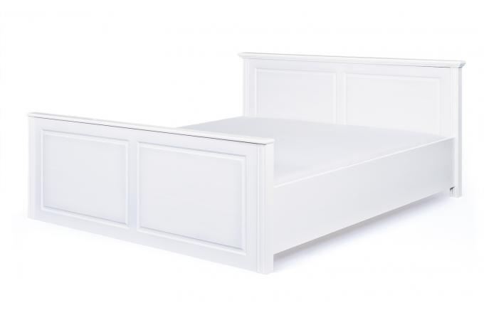 lit en bois blanc 160x200 paco design sur sofactory. Black Bedroom Furniture Sets. Home Design Ideas