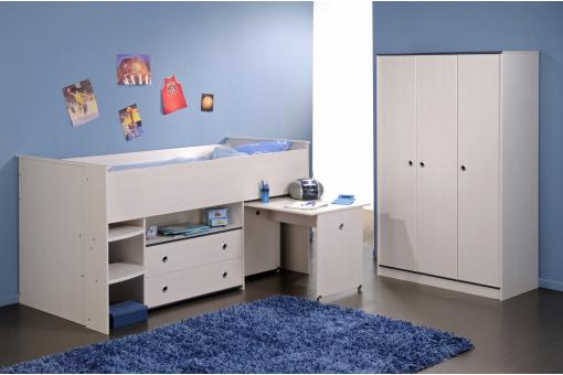Lit Fonctionnel Pour Enfant En Pin SMOOTH Beige PA173742-0000
