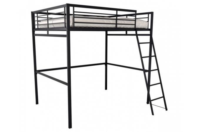 Lit mezzanine 140x190 anthracite rima design en direct de l 39 usine sur sof - Lit mezzanine en metal ...