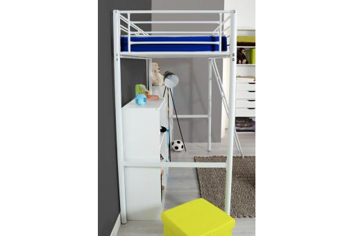 lit mezzanine 90x190 cm blanc alma design sur sofactory. Black Bedroom Furniture Sets. Home Design Ideas