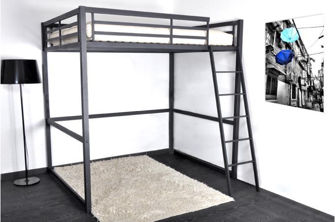 lit mezzanine 140x190 cm kurla design pas cher sur sofactory. Black Bedroom Furniture Sets. Home Design Ideas