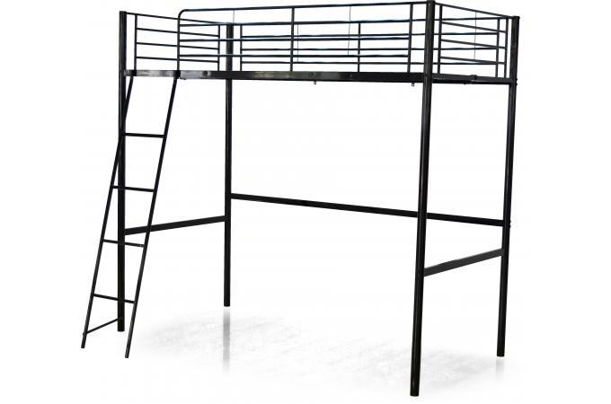 lit mezzanine noir 140x190 mont design sur sofactory. Black Bedroom Furniture Sets. Home Design Ideas