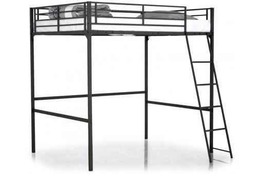 lit mezzanine noir 140x190 kala design sur sofactory. Black Bedroom Furniture Sets. Home Design Ideas