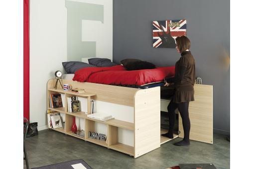 lit combin avec dressing int gr spatial design sur sofactory. Black Bedroom Furniture Sets. Home Design Ideas