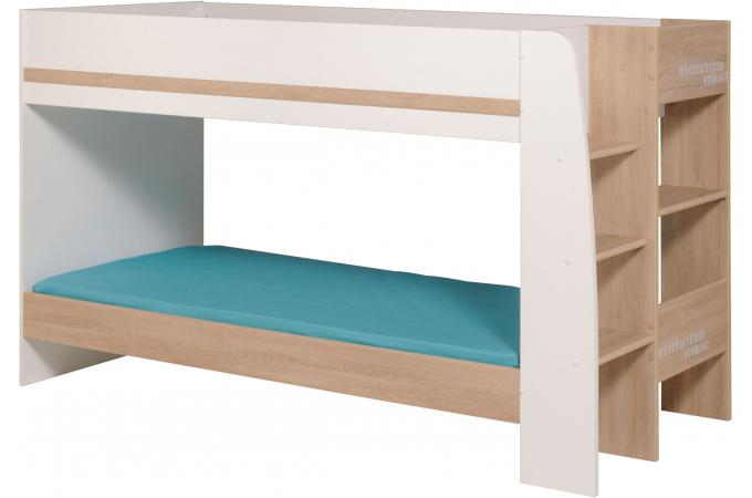 lits superpos s bois et blanc alania design sur sofactory. Black Bedroom Furniture Sets. Home Design Ideas
