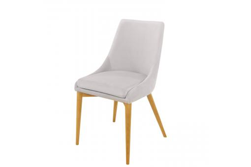 Lot 2 Chaises Velours Blanc VETYVEL SoFactory