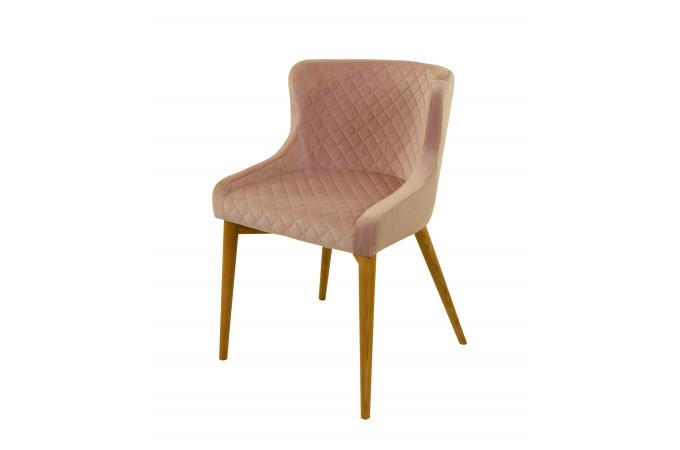 lot 2 chaises velours rose poudr roma design sur sofactory. Black Bedroom Furniture Sets. Home Design Ideas