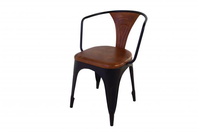 lot 4 chaises cuir mtal tonlda - Chaise En Cuir