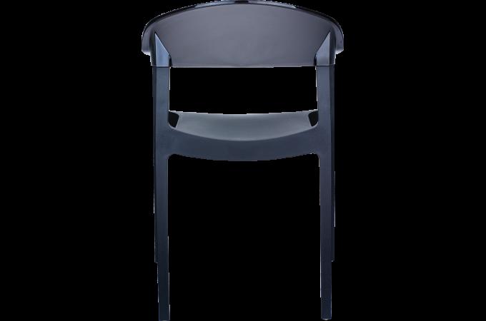 Lot De 2 Chaise Design Noire Et Transparente Noire Javier