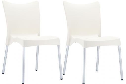 Lot de 2 Chaises design  Beige JOHN