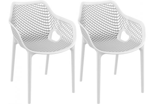 Lot de 2 Chaises design  Blanches ALSTA