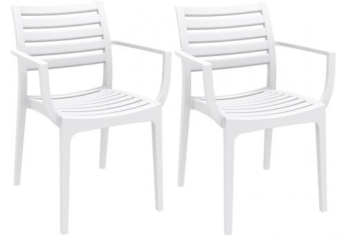 Lot de 2 Chaises design  Blanches PORTOS