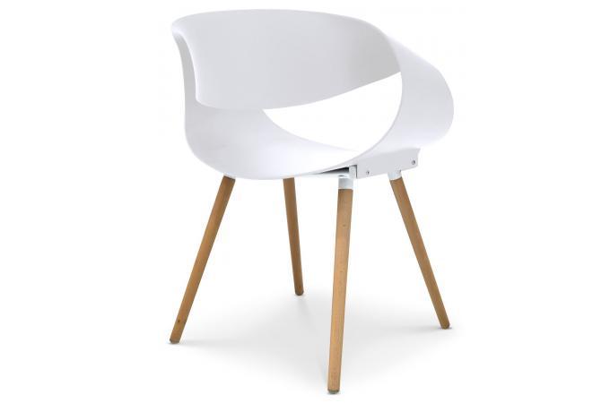 Lot de 2 chaises design blanches luvia design sur sofactory for Chaise zenata