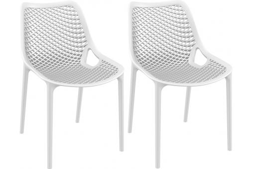 Lot de 2 Chaises design Blanches MENAZ SoFactory