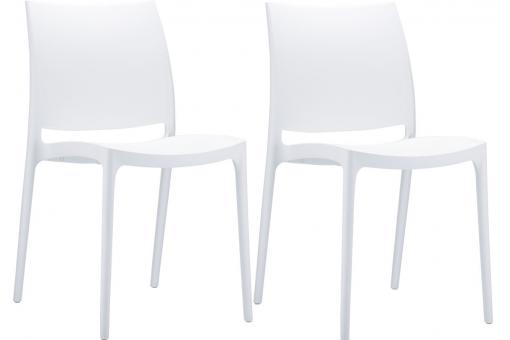 Lot de 2 Chaises design Blanches MOOV SoFactory