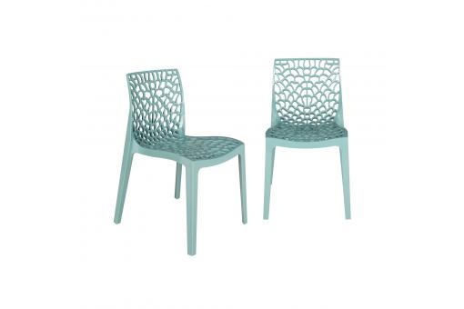 Lot de 2 Chaises Design Bleu Ciel FILET SoFactory