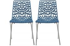 Lot De 2 Chaises Design Bleu TRAVIOLA